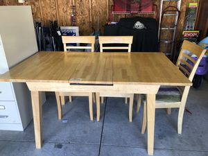 Nice Ashley pop up leaf kitchen table and chairs for Sale in Romulus, MI
