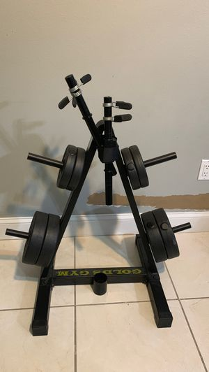 GOLD's GYM dumbell rack with weights for Sale in Tampa, FL