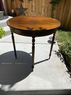 Antique Solid Walnut French Round Table for Sale in Westminster, CO