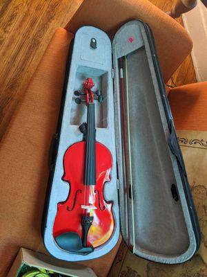 Red violin with case for Sale in Escondido, CA