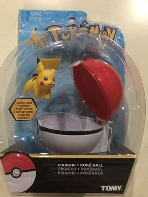 Pokemon pikachu and poke ball Tomy for Sale in Zeeland, MI