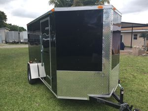 2019 Brand New 6' x 14' Enclosed Trailer with Reinforced Ramp for Sale in Pompano Beach, FL