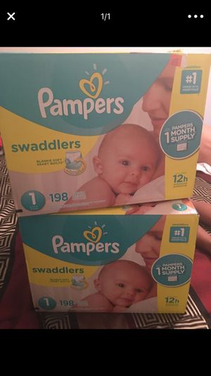 PAMPERS BRAND NEW/ NEVER OPEN 198ct SIZE 1 for Sale in Arlington, TX