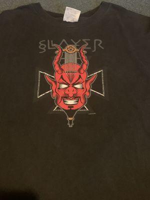 SLAYER 1998 DIBOLUS IN MUSICA SHIRT XL - vintage rare Pantera Metallica cd vinyl megadeth Iron Maiden for Sale in Baltimore, MD