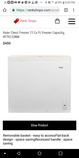 Chest deep freezer for Sale in Albuquerque, NM