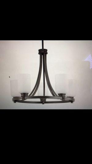 Progress Lighting antique bronze chandelier new (we never used) for Sale in Williamsburg, VA