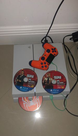 PS4 with controller, red dead redemption 2 and spider man for Sale in Hollywood, FL