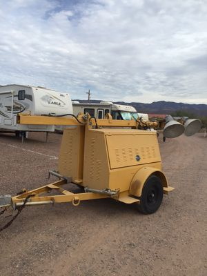 Generator and light with 120volts and 240volts connection for Sale in Tonto Basin, AZ