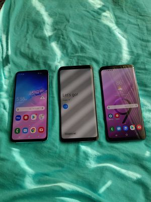 3 phones for $690, ( 2 SAMSUNG GALAXY S9 128GB ) ( 1 SAMSUNG GALAXY S10 256gb ) UNLOCKED for Sale in Kissimmee, FL