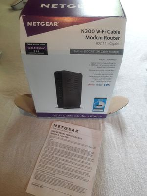 NETGEAR MODEM AND ROUTER for Sale in Jacksonville, FL
