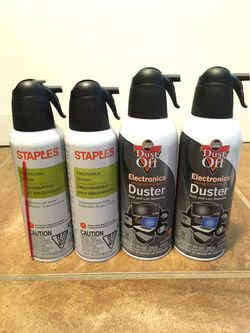 Electronics Duster/ Dust And Lint Remover 4 Bottles for Sale in Denver,  CO
