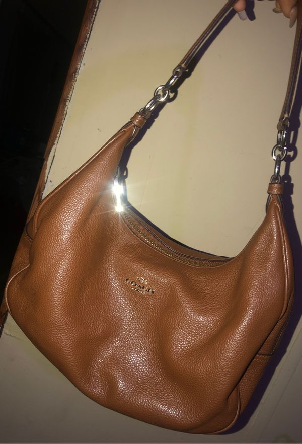 Coach purse brown real leather
