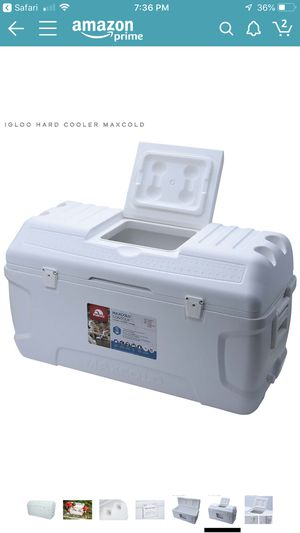 Igloo 165 quarts Maxcold - In great condition. Amazon sells it for $140. Selling for $80. 00. If you see the ad it's still available. for Sale in Hollywood, FL