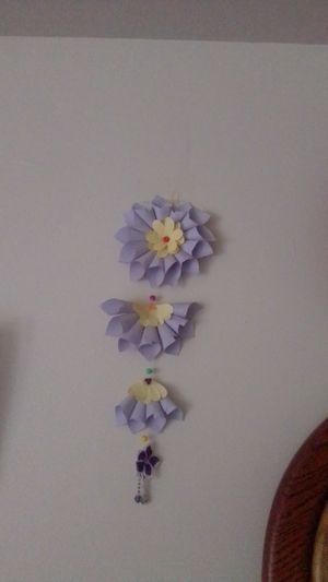 Wall hanging paper flower for Sale in Hatfield, PA
