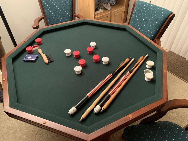Solid Wood Game & Poker Table and Chairs