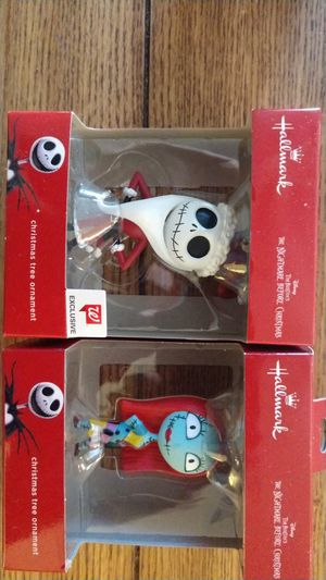 Jack Skellington and Sally NBC X-Mas Ornaments for Sale in Smyrna, TN