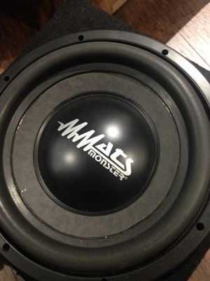 Mmats pro audio Monster 12 inch subwoofer like new !!! for Sale in Pompano Beach, FL