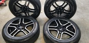 LIKE NEW 2018 FORD OEM MUSTANG GT SET OF 4 18 INCH WHEELS / RIMS AND TIRES FOR SALE!!!! for Sale in Miami Gardens, FL