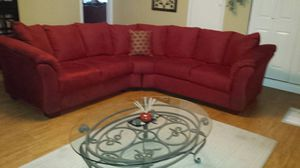 Burgundy sectional couches for Sale in Austin, TX