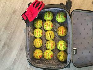 SOFTBALLS and Batting Gloves for Sale in Phoenix, AZ