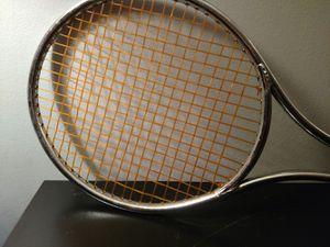 Vintage Aluminum tennis racket 4 5/8 leather grip for Sale in Evesham Township, NJ