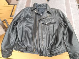 Leather biker jack with thinsulate insert(removable) for Sale in Milwaukee, WI