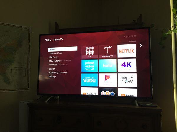"""55"""" ROKU TCL NEW TV"""