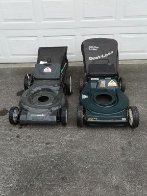 2 LAWNMOWER BODIES WITH GRASS BAGS for Sale in Seattle, WA