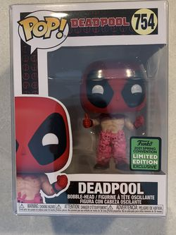Deadpool Teddy Bear Pants Funko Pop *MINT IN HAND* 2021 ECCC Spring Convention Target Exclusive Marvel 754 with protector for Sale in Lewisville,  TX