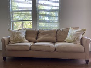 Beige Couch with 2 Cushions for Sale in Irvine, CA