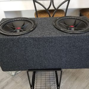 """KICKER - COMPVR Dual 12"""" Dual-Voice-Coil 2-Ohm Subwoofers $290 for Sale in Bakersfield, CA"""