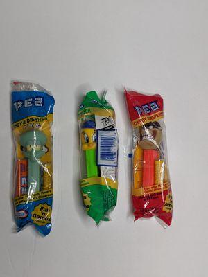 3 PEZ Candy Dispensers Set Squidward Tweety Bird Taz for Sale in Baldwin Park, CA
