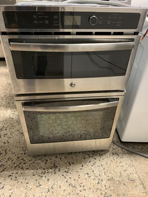 "27"" ge wall oven and microwave combo electric stainless steel with warranty for Sale in Woodbridge, VA"