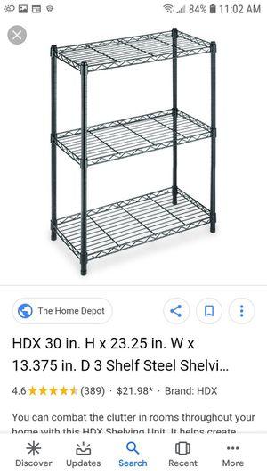 3 shelf metal shelves for Sale in College Park, MD