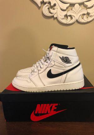 Nike air Jordan 1 10.5 men's yin yang white for Sale in Perth Amboy, NJ