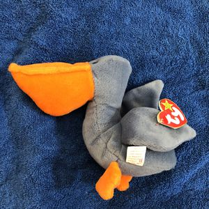 Pelican beanie baby with tag for Sale in St. Helens, OR