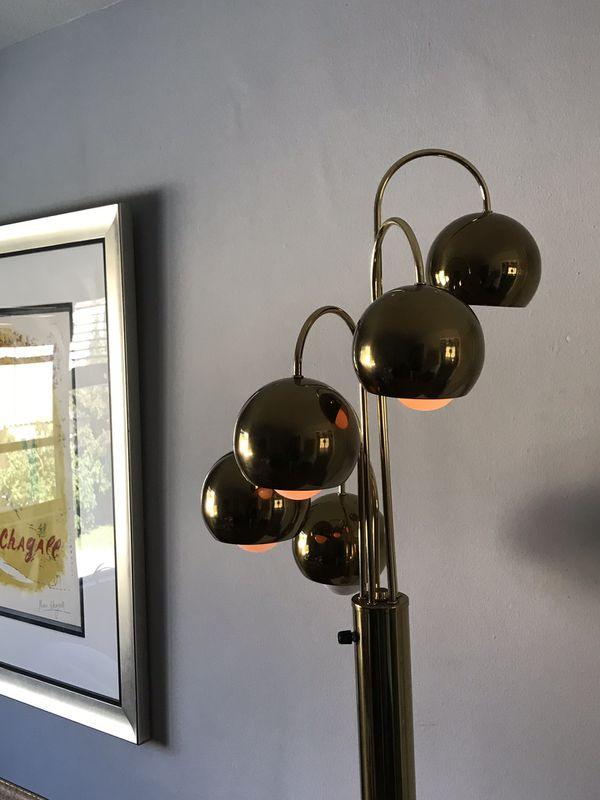VINTAGE ROBERT SONNEMAN BRASS WATERFALL FLOOR LAMP - MID CENTURY MODERN BEAUTY
