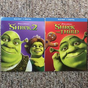 Shrek 2 / Shrek The Third (Blu-Ray) With Slipcovers NO DIGITAL for Sale in Rocky Mount, NC