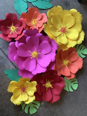 Colorful paper flowers for Sale in Riverside, CA