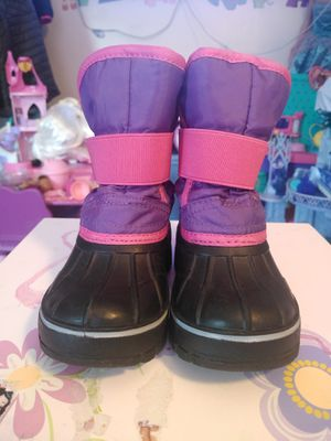 LILY & DAN Girls Toddler Winter Snow Boots Pink Purple Size 7/8 Toddler like new for Sale in East Hartford, CT