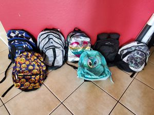Backpacks galore - kids and teens backpacks! for Sale in Phoenix, AZ