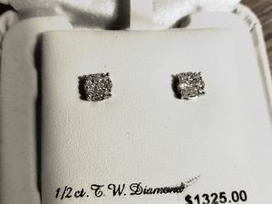 Diamond earing, 1/2 ct. Never used, open to better offer. for Sale in Lexington, SC