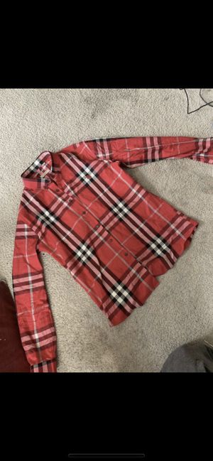 Red Burberry Button up for Sale in Columbus, OH