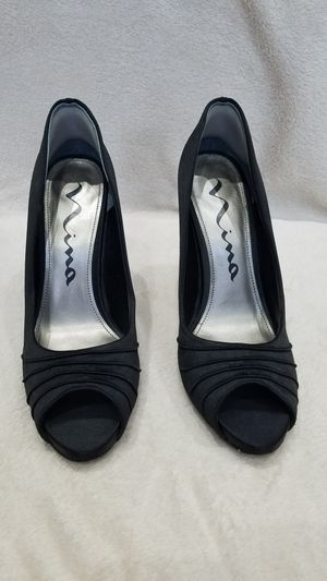 Women's Nina black fabric high heel shoes, size 9 for Sale in Ithaca, NY
