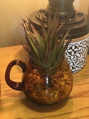 Faux Succulent in vintage glassware $10 EACH PIECE for Sale in Winter Garden, FL