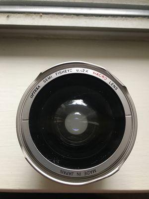 Opteka semi fisheye 0.42x macro lens for Sale in San Antonio, TX
