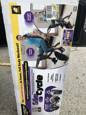 New As seen on TV slim cycle 2-in 1 Exercise Bike for Sale in Houston, TX