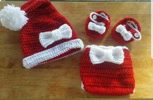 Crochet Baby Girl Christmas Santa Outfit Newborn for Sale in Lyons, GA