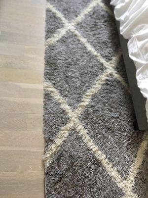 Shag grey rug in fantastic condition! for Sale in Arlington, VA