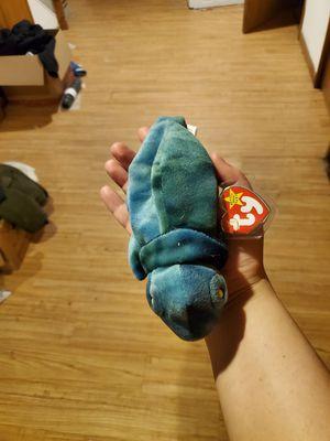 Blue-green ty beanie babie Chameleon for Sale in Natoma, KS